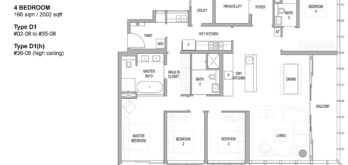 riviere-floor-plan-4-bedroom-singapore-condo